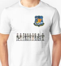 VNAF Cartoon Pilots Characters with TQKG Patch (off center) Unisex T-Shirt
