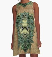 The Green Man A-Line Dress