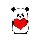 Panda in Love by badamg