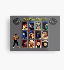 Mortal Kombat 2 – Choose Johnny Cage Metal Print