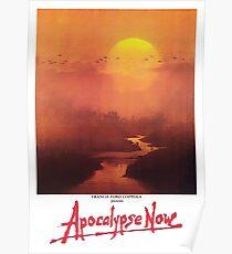 APOCALYPSE JETZT, Film, Film, ALTES Plakat, AUF SCHWARZEM Poster