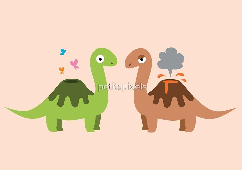 Volcanosaurus by petitspixels