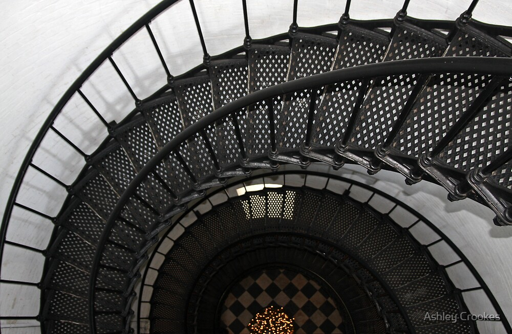 Inside St Augustine Lighthouse by Ashley Crookes