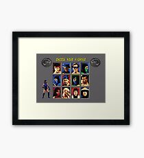 Mortal Kombat 2 – Choose Kitana Framed Print