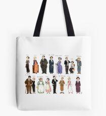 Downton Abbey portraits Tote Bag