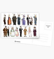 Downton A. Porträts Postkarten