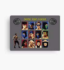 Mortal Kombat 2 – Choose Jax Canvas Print