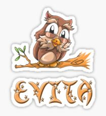 Evita Owl Sticker