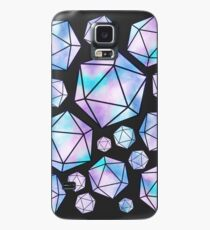 Blue & Purple Crystal D20 Collage Case/Skin for Samsung Galaxy