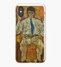 Egon Schiele - Portrait of Paris von Gütersloh, 1918 iPhone Case/Skin