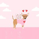 Chihuahua love bug dog breed valentines day cute gifts for chiwawa lovers by PetFriendly
