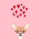 Chihuahua heart glasses dog breed valentines day cute gifts for chiwawa lovers by PetFriendly