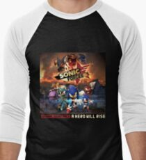 Sonic Forces Original Soundtrack - A Hero Will Rise Men's Baseball ¾ T-Shirt