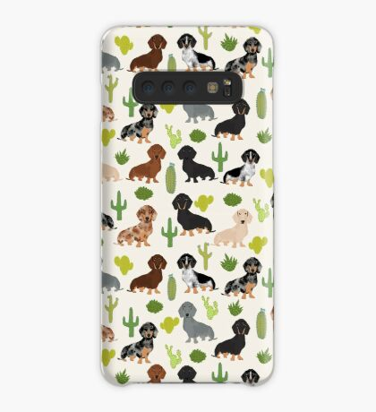 Dachshund cactus southwest dog breed gifts must have doxie dachsies  Case/Skin for Samsung Galaxy
