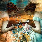 Art Nouveau Zodiac Gemini by mindydidit