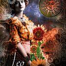 Art Nouveau Zodiac Leo by mindydidit