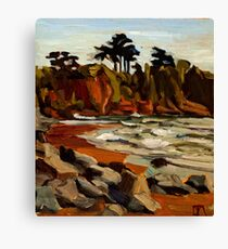 A Tramp Along the English Riviera. Canvas Print