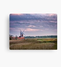 September Evening at the Windmill Canvas Print