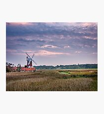 September Evening at the Windmill Photographic Print