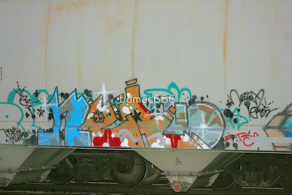 Train Graffiti #25 by bdmac666