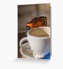 LOMO having a coffee! :0) Greeting Card