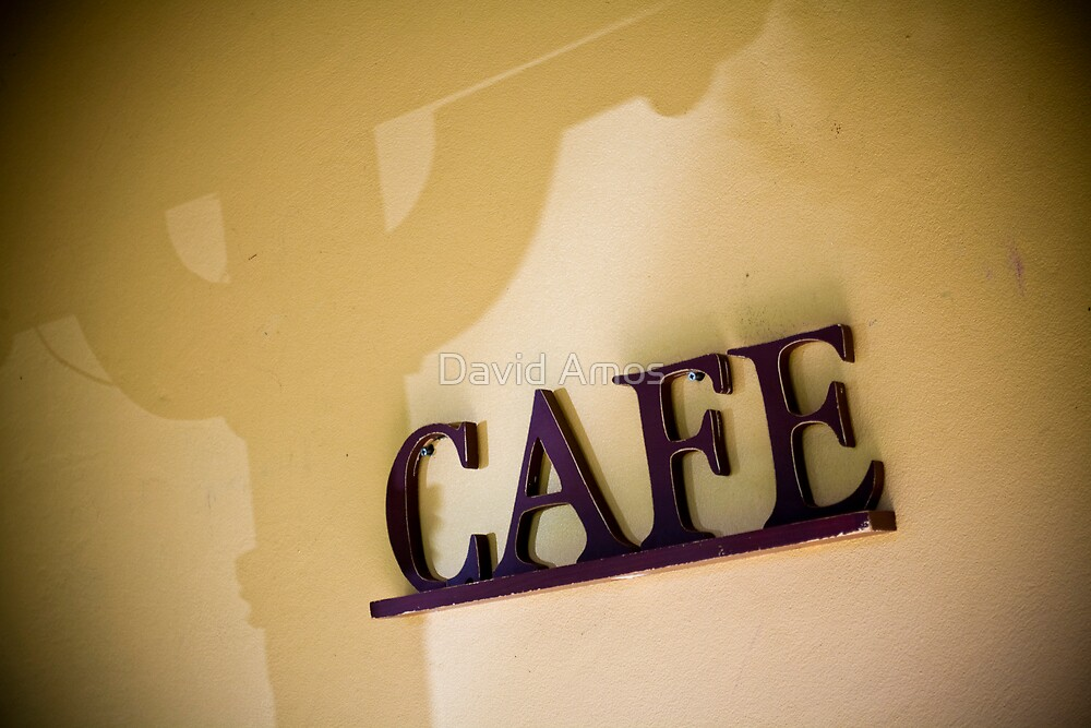 Blue M Cafe - Sign by David Amos