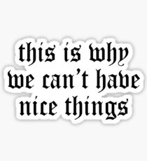 Taylor Swift - This Is Why We Can't Have Nice Things Sticker