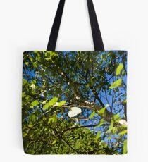 Through The Poplar. Tote Bag