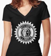 Pete Rock & CL Smooth tee (white logo) Women's Fitted V-Neck T-Shirt