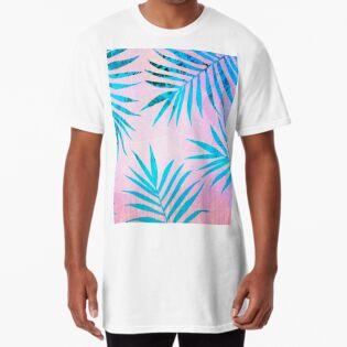 d49d09ae7 Refreshing Geometric Palm Tree Leaves Tropical Chill Design
