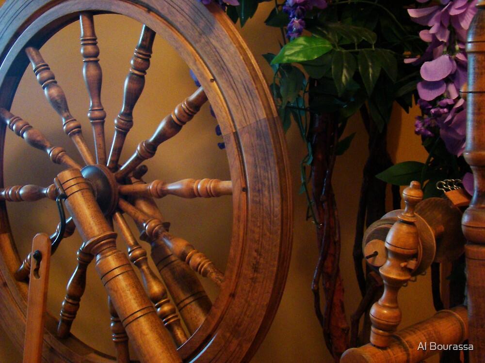 Spinning Wheel by Al Bourassa