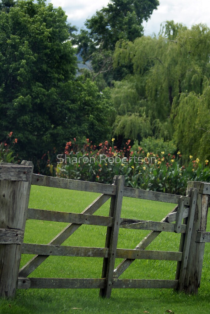 Gate in Berry by Sharon Robertson