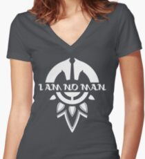 I Am No Man Women's Fitted V-Neck T-Shirt