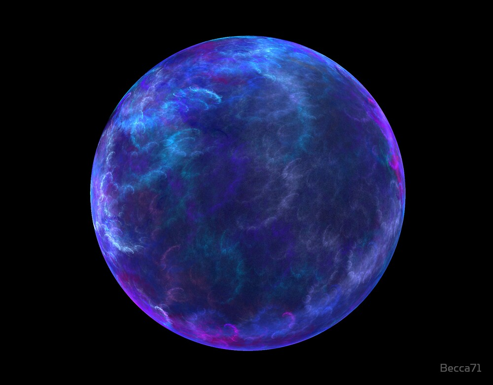 Blue Smoke Marble by Becca71