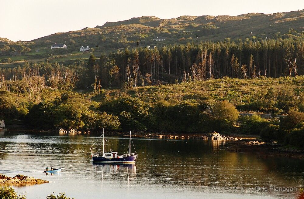 Lonesome boatmen - Dunboy Harbour, West Cork by Orla Flanagan