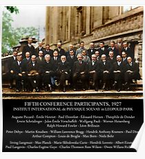 Albert Einstein Solvay Conference 1927 Poster