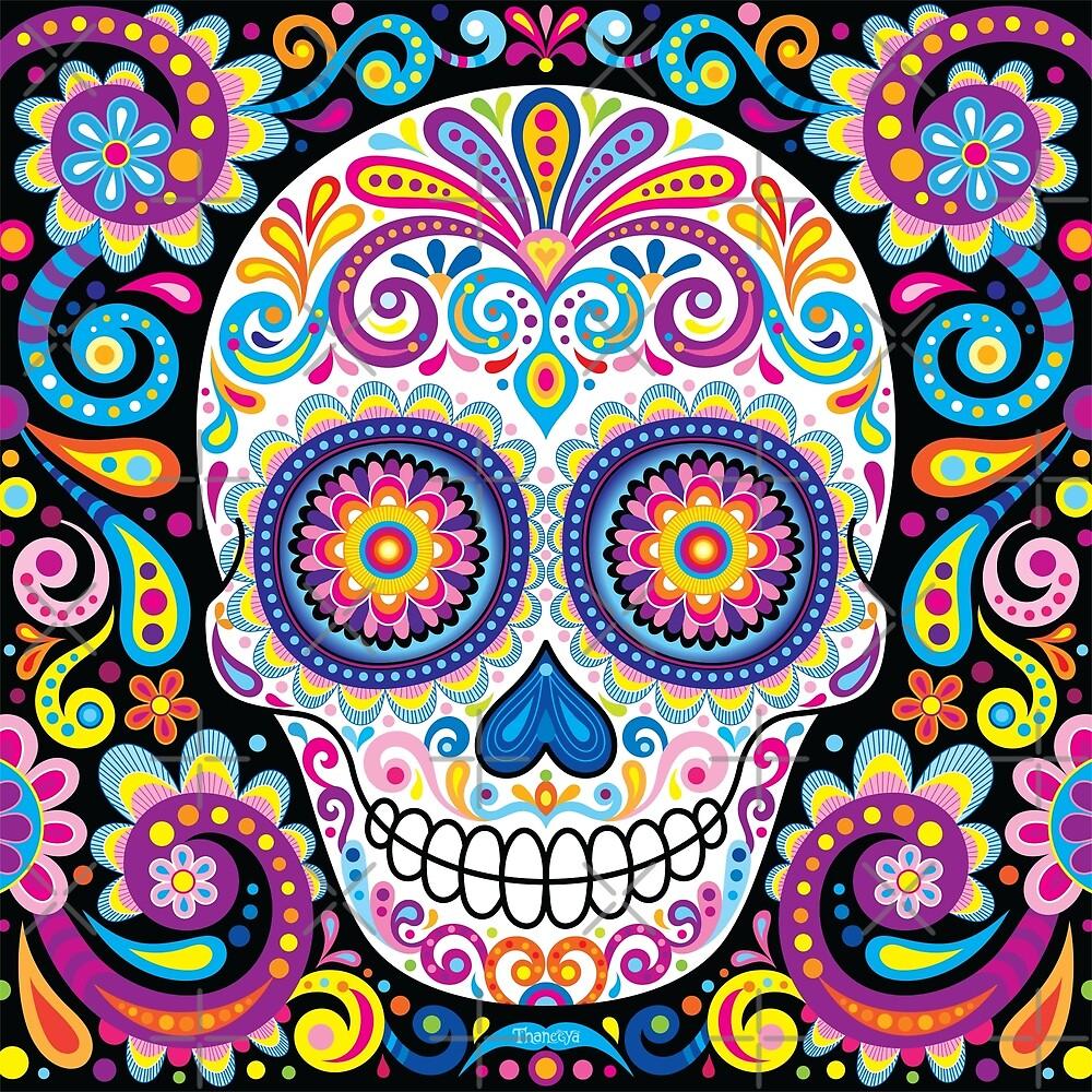 Quot Sugar Skull Art Cosmos Quot By Thaneeya Mcardle Redbubble