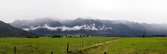 Hokitika River Valley by Will Hore-Lacy
