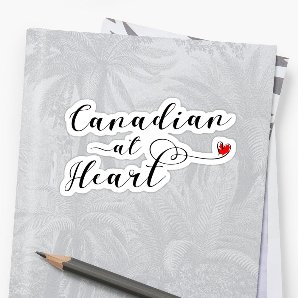 Pegatinas «Etiqueta engomada canadiense del corazón, etiqueta ...