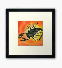 Scorpio Zodiac Horoscope Painting Framed Print