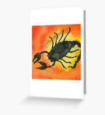 Scorpio Zodiac Horoscope Painting Greeting Card