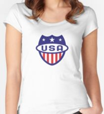 Go USA! Women's Fitted Scoop T-Shirt