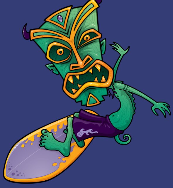Tiki Surfer Dude by fizzgig