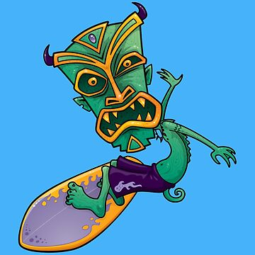 Tiki Surfer Dude by fizzgig