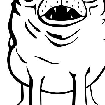 Pug sniffin' by mongreldesigns