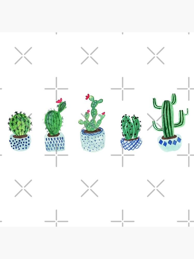 Cactus en acuarela de Harpleydesign