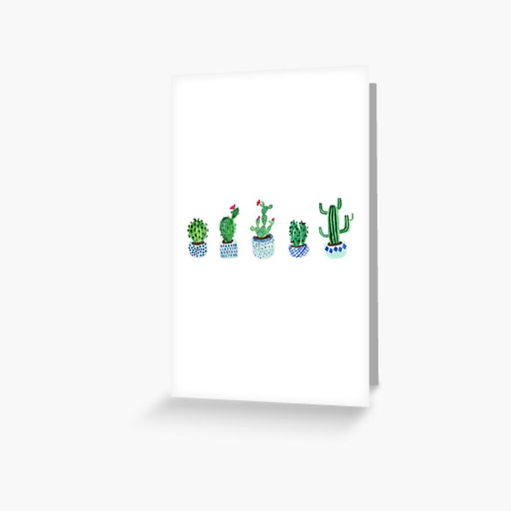 Cactus en acuarela Tarjetas de felicitación