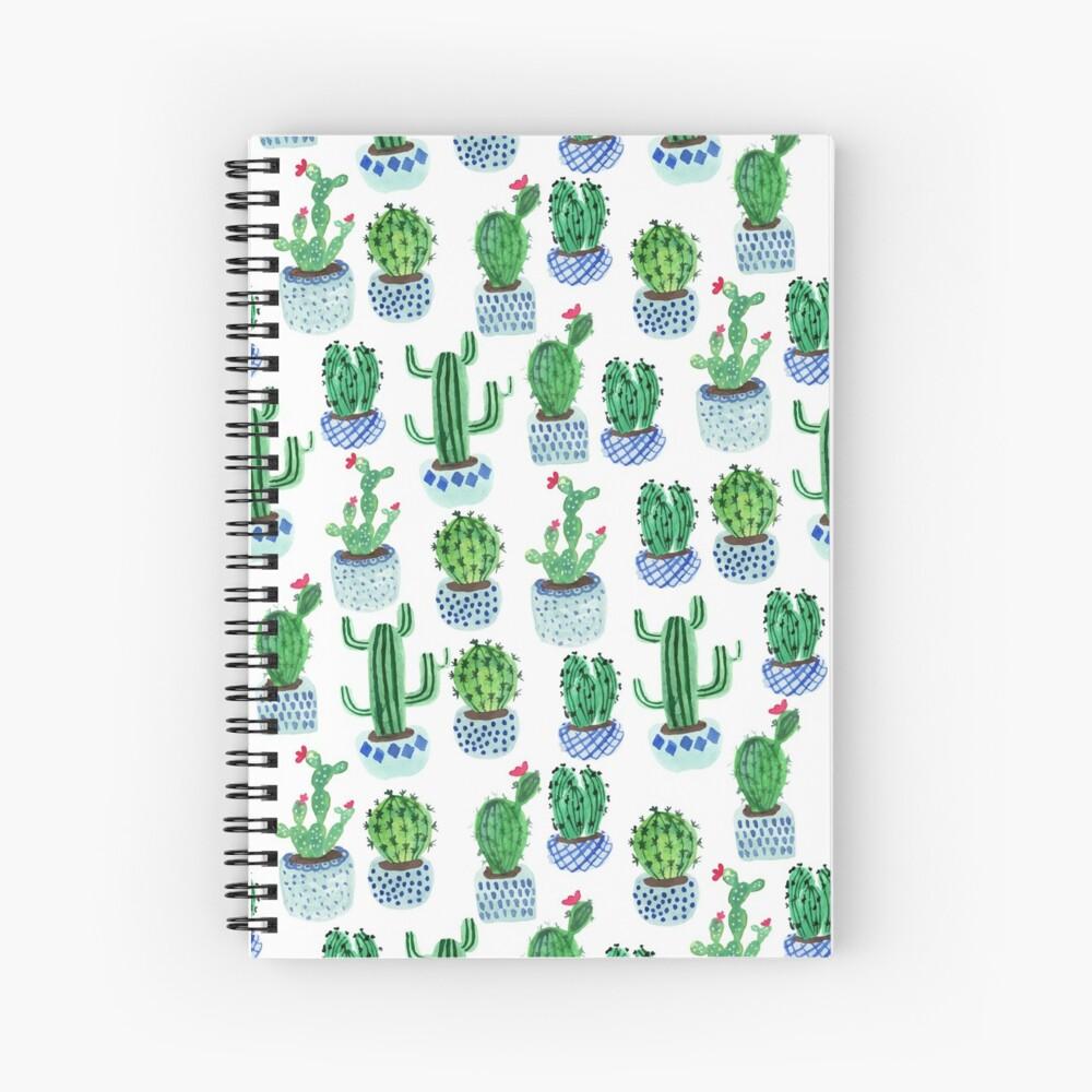 Cactus en acuarela Cuaderno de espiral