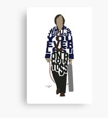 Anton Chigurh in No Country For Old Men Typography Design Canvas Print