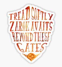 Zarok Awaits Sticker